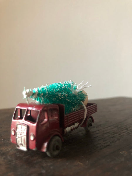 NEW - Vintage Driving Home For Christmas, Red Trailer