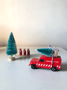 Home for Christmas - Vintage Fire Truck