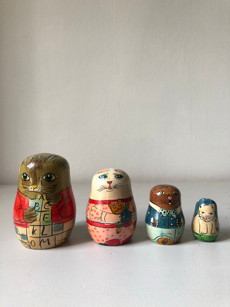 Vintage Animal Russian Dolls