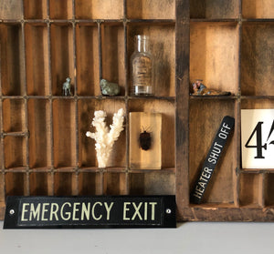 Vintage Emergency Exit Sign