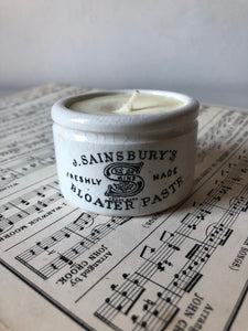 Antique Sainsbury's Jar Candle, Sweet orange and Rosemary
