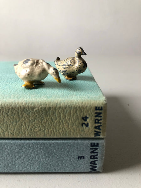 Pair of Antique Lead Ducks
