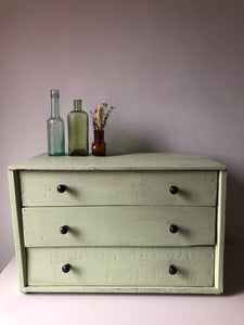 Vintage Table Top Chest of Drawers
