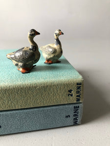 Pair of Antique Lead Geese