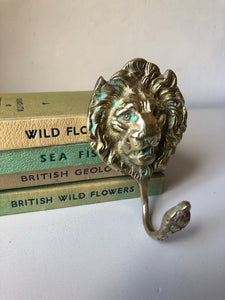 Vintage Brass Lion Hook