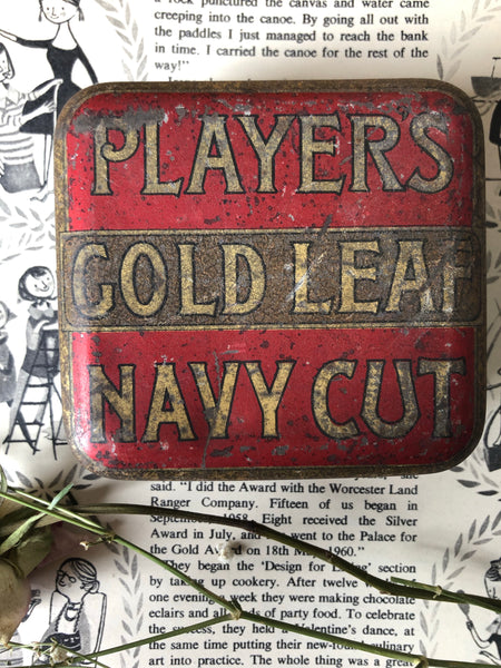 Vintage Players Tobacco Tin, Red