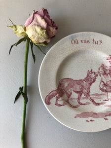 Antique French Mini Plate