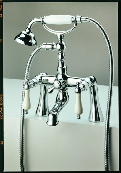 Bath Shower Mixer - Porcelain Handle