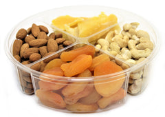 Gourmet Nut & Dried Fruit Variety 4-Section Gift Tray - Its Delish