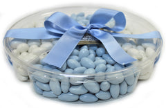 It's A Boy! Jordan Almond Gift Tray (Pastel Blue & White, Large 4 Section) - Its Delish