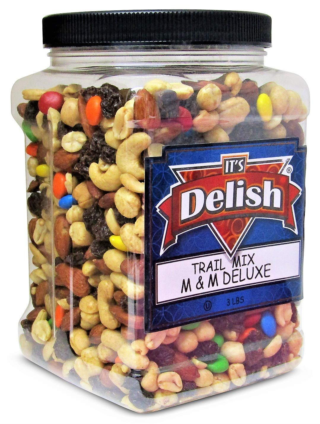 M&M Classic Trail Mix- 3 LBS  |  Jumbo Reusable Container