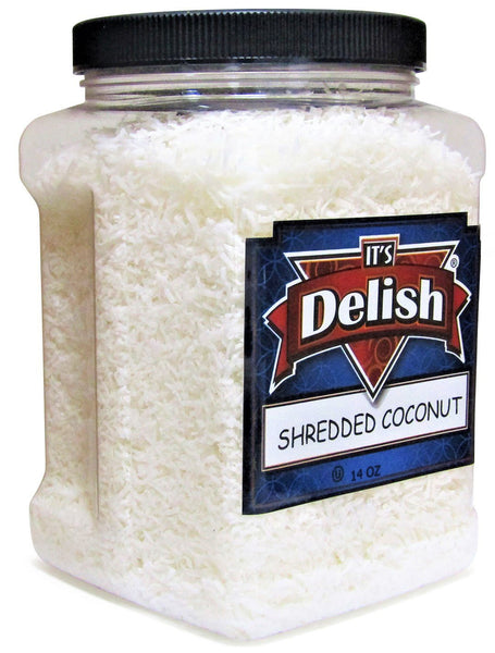 RAW UNSWEET SHREDDED COCONUT 14 OZ | JUMBO CONTAINER