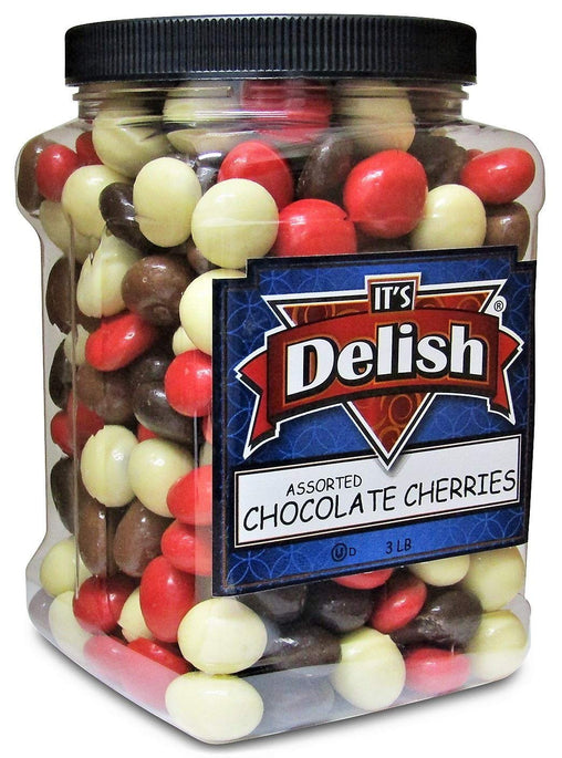 Chocolate Covered Cherries Medley | 3 lbs Jumbo Reusable Container