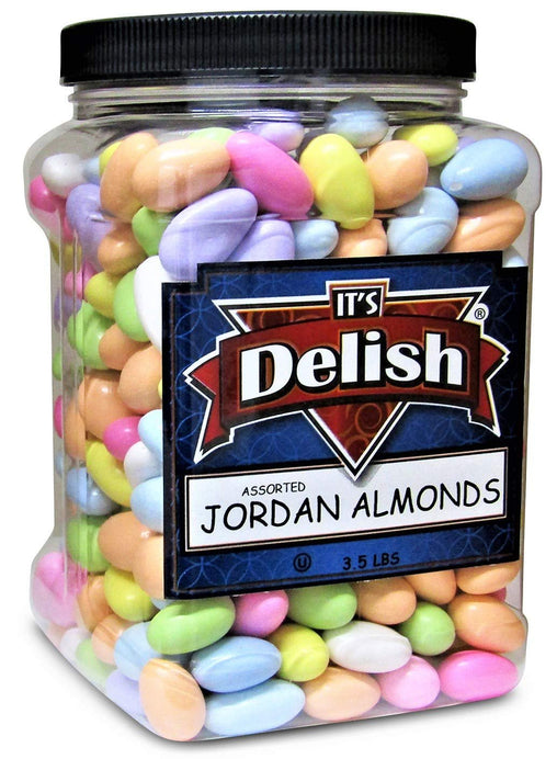 Assorted Jordan Almonds |3.5 lbs Jumbo Container | Pastel Colors