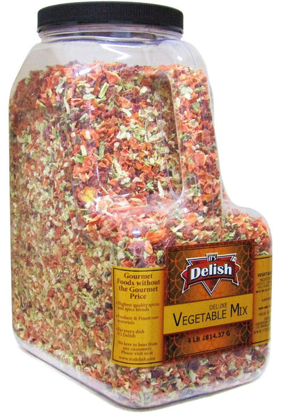Deluxe Dried Vegetable Soup Mix, 4 LB Restaurant Gallon Size Jug