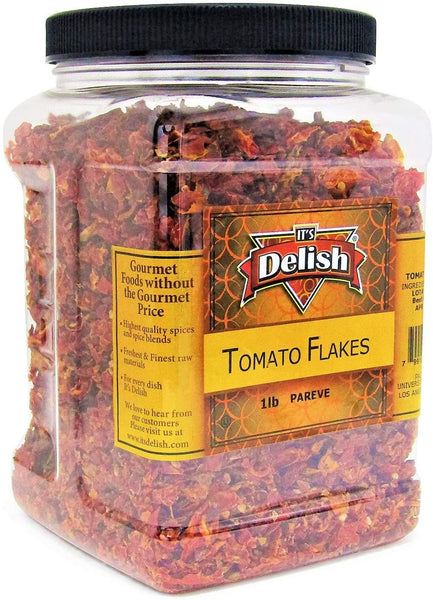 Premium Dried Tomato Flakes  16 OZ Jumbo Reusable Container