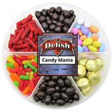 Gourmet Gift Tray 6-Section by Its Delish, 36 Oz Candy Mania with Chocolate and Nuts