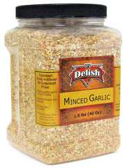 DRIED MINCED GARLIC, 40 OZ (2.5 LBS) | JUMBO REUSABLE CONTAINER