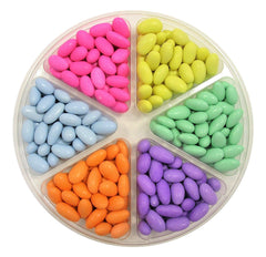 Jordan Almond Gift Tray (Assorted Pastel Colors, 6 Section)