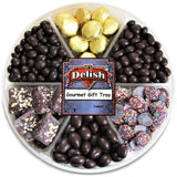 Gourmet Holiday Chocolate Assortment Gift Tray 6-Pt by It's Delish
