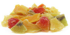 Mixed Dried Fruit by It's Delish – Perfect, All Natural, Refreshing Snack – Blend Of Pineapple, Papaya, Mango, and Kiwi Slices – Low Sugar, No Sulphur, No Color added