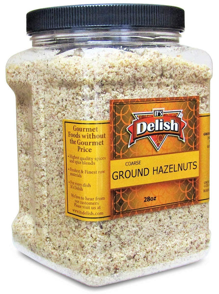 Ground Hazelnuts -28 OZ |   Jumbo Reusable Container