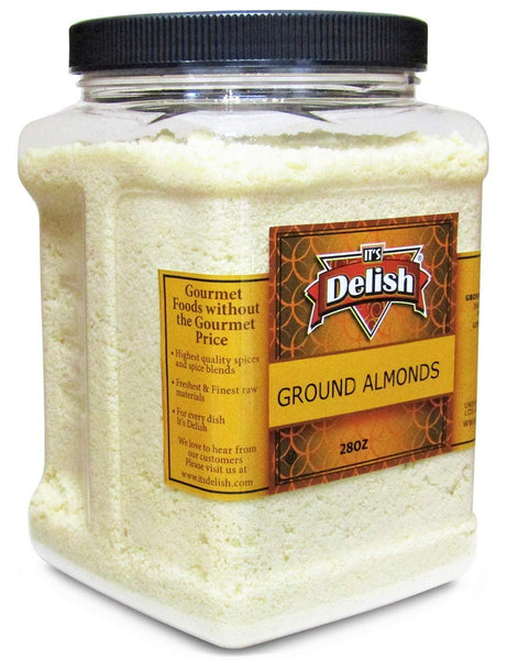 Gourmet Ground Almond Powder (Pure Kosher Meal)- 28 Oz Jumbo Reusable Container