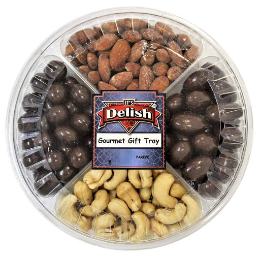 Gourmet Nuts & Chocolate Gift Tray 4-Section