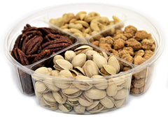 Gourmet Nuts Sampler Classy Gift Tray 4-Section