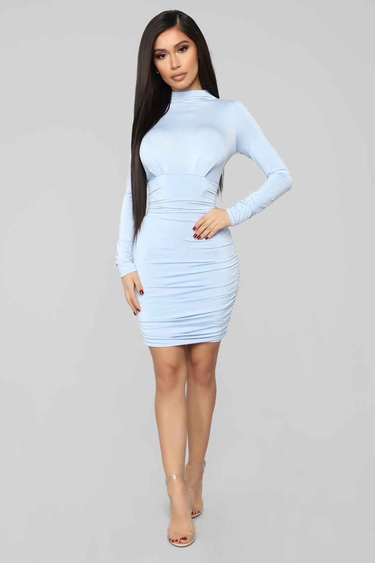 ice blue party dress