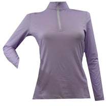 Load image into Gallery viewer, WOMEN'S QUARTER ZIP LONG SLEEVE SHIRT (OPTIONS)