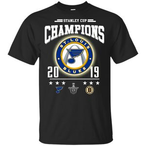 Stanley Cup Champions ST-LOUIS Blue 2019 Shirt