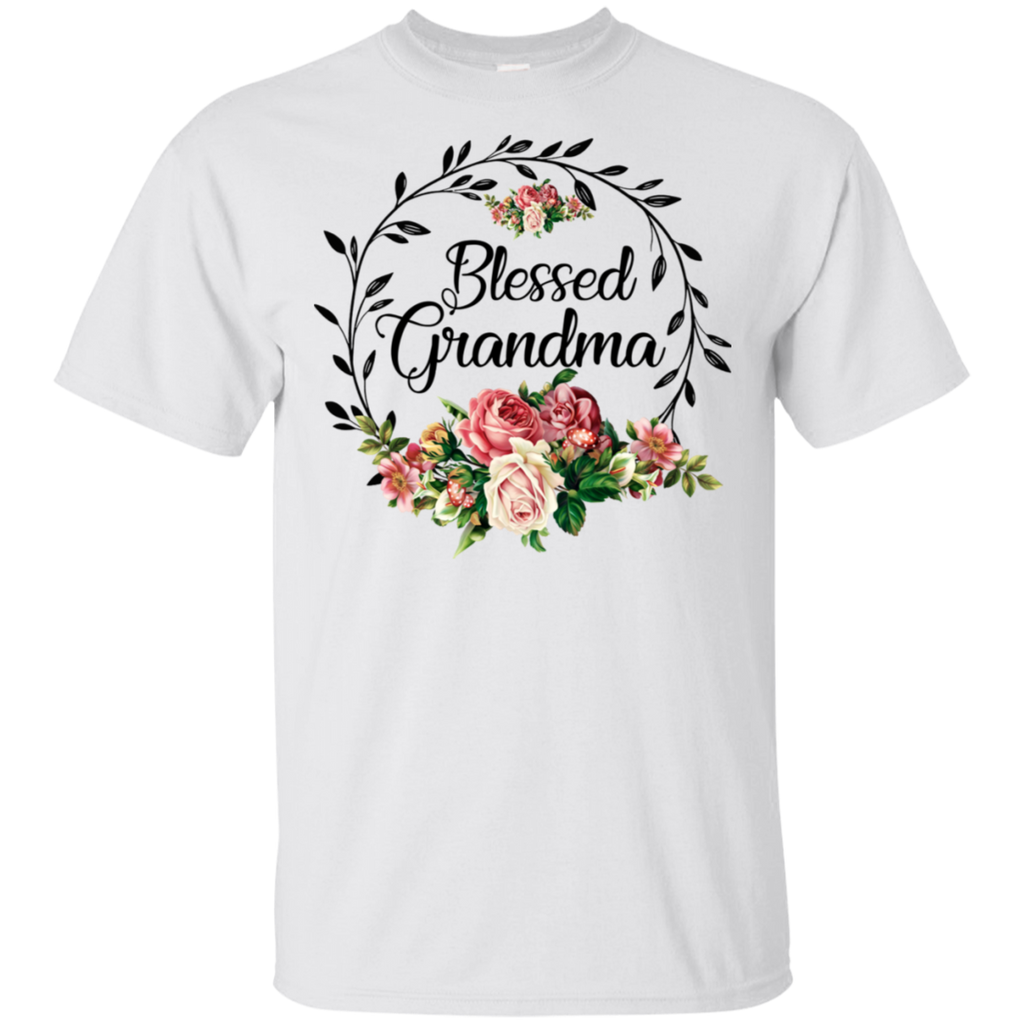Blessed Grandma T-Shirt with floral, heart Mother's Day Shirt-Gift Style
