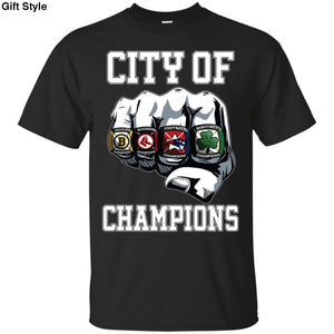 City Of Champions Boston Sports Teams Citizen Shirt - G200 Gildan Ultra Cotton T-Shirt / Black / S - Apparel