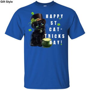 Happy ST CAT-Tricks Day Shirt - G200 Gildan Ultra Cotton T-Shirt / Royal / S - Apparel