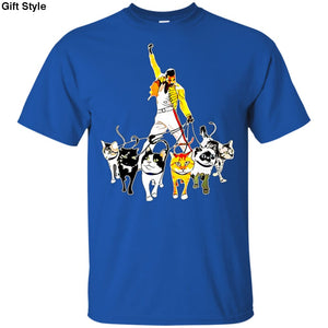 Mercury And His Cats Freddie Shirt - G200 Gildan Ultra Cotton T-Shirt / Royal / S - Apparel