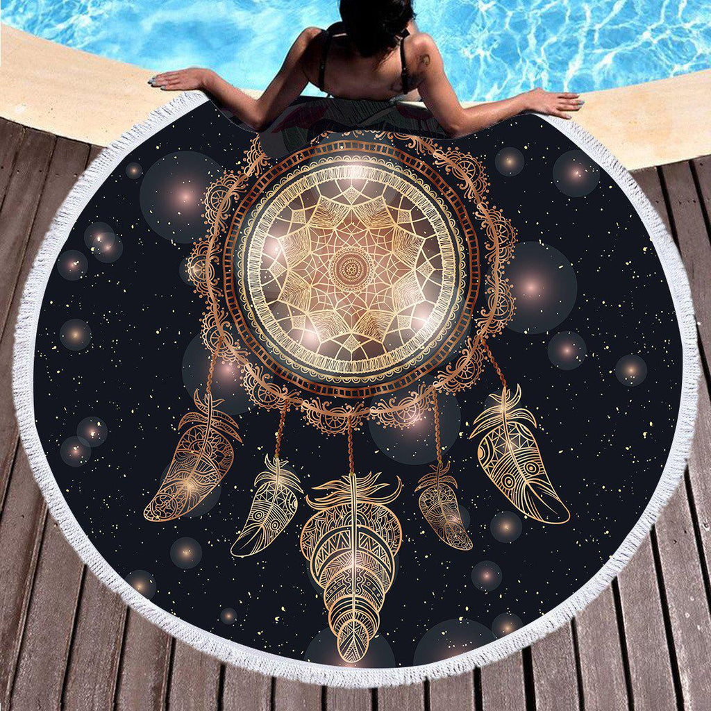 Bedding Tassel Mandala Tapestry Large Round Beach Towel Galaxy Round Blanket