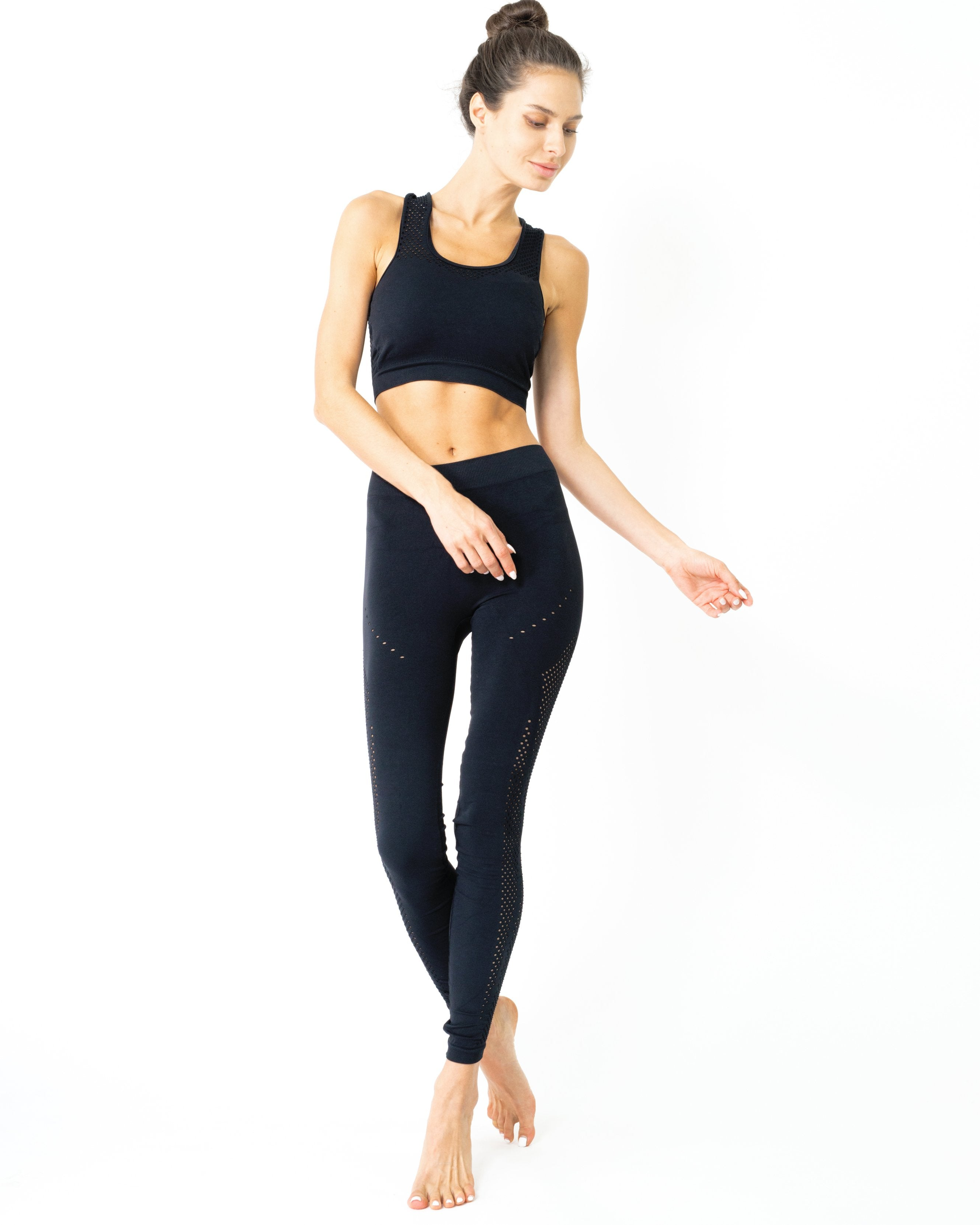 SALE! 50% OFF! Athens Seamless Sports Bra - Black [MADE IN ITALY]
