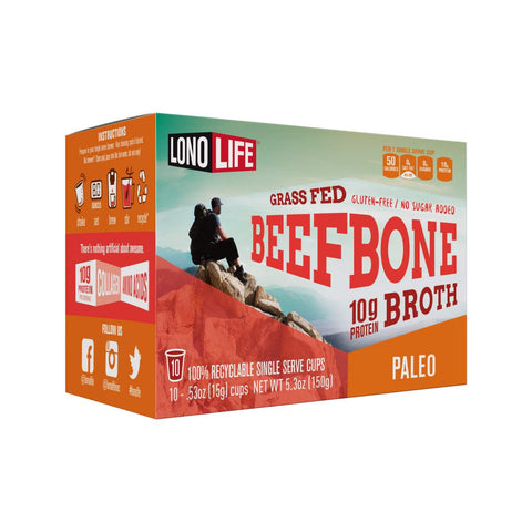 Grass Fed Beef Bone Broth Single Serve Cups