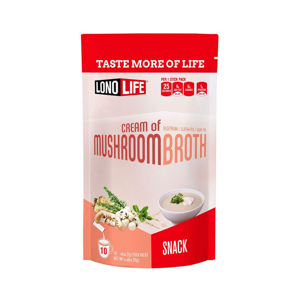 Cream of Mushroom Broth Snack Stick Packs