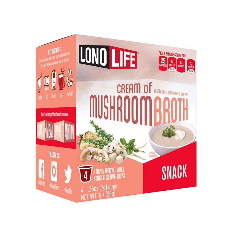 Cream of Mushroom Broth Snack Single Serve Cups