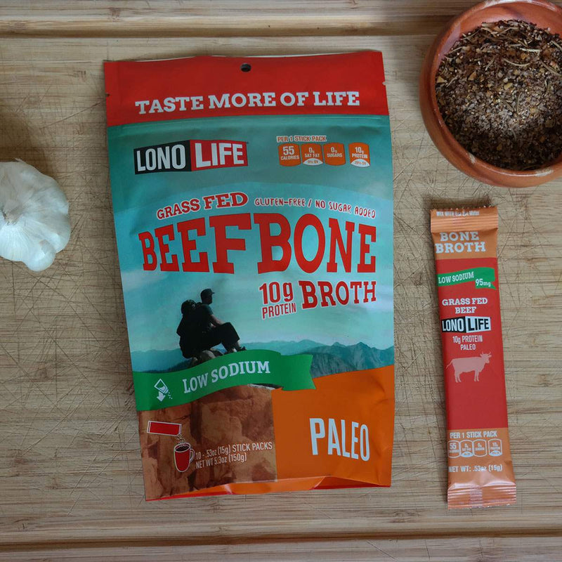 Low Sodium Beef Bone Broth Stick Packs