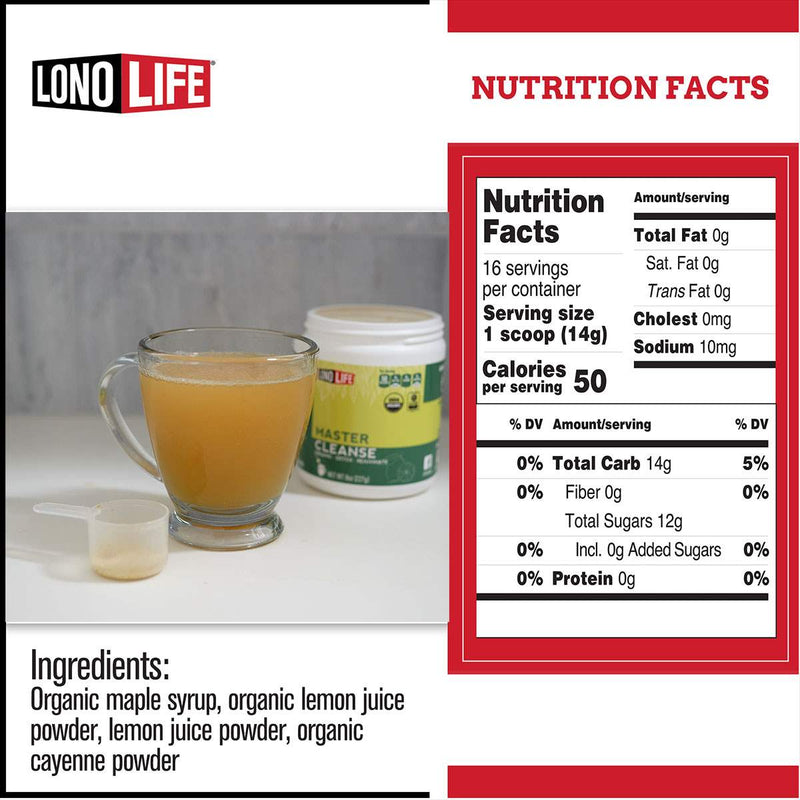 Lonolife Master Cleanse Lemonade Diet 8oz Bulk Container Lonolife