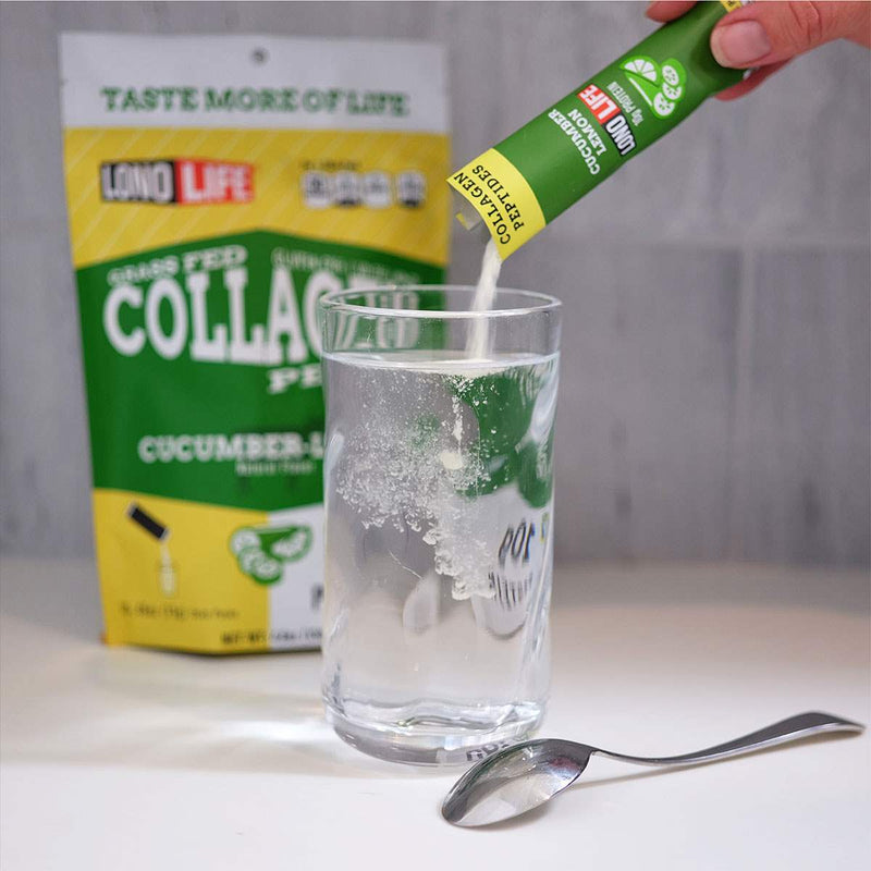 Cucumber Lemon Collagen Peptides Stick Packs