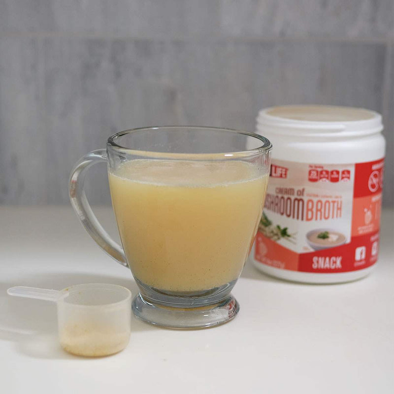 Cream of Mushroom Broth Snack Bulk Container