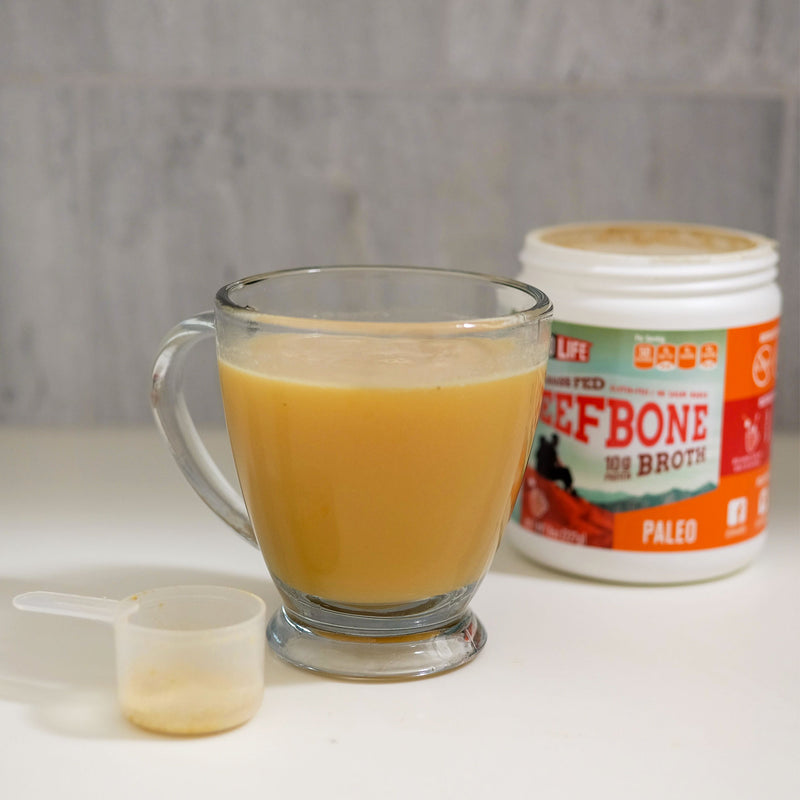 Grass Fed Beef Bone Broth Bulk Container
