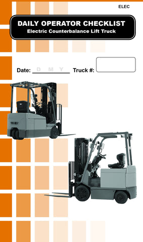 Checklist Caddy Re-fill Pack - Forklift Training Safety Products