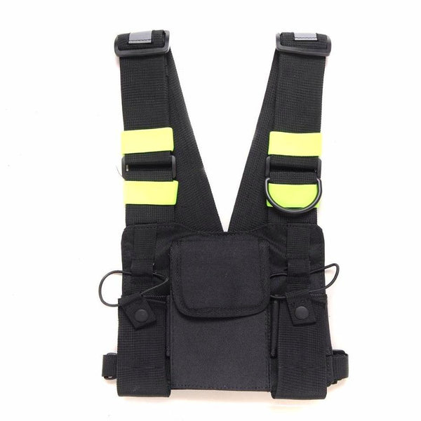 RYUU STREET-VEST (GREEN ACCENTED)