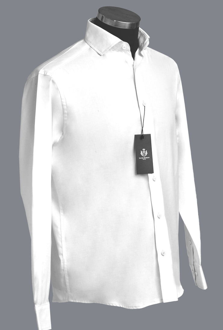 Aberdeen Dress Shirt 140s 2-ply Twill Gentle Fit in Brilliant White