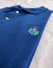 Barmouth Polo Shirt - 100% Cotton in Navy Blue